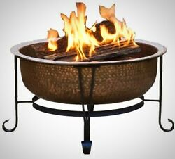 Copper Fire Pit Vintage Party Pool Patio Outdoor Portable Backyard BBQ Camping