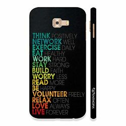 Mantras for life Hard Back Cover Case For Samsung Galaxy C9 Pro