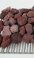 Lava Rocks For Fire Pit Gas Grill Fireplace Cooking Stone Red Aquarium BBQ Plant