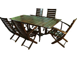 Vintage Triconfort France Outdoor Dining Patio Set