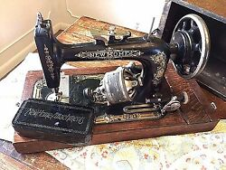 New Home Antique Sewing Machine Home Office Cabin Vintage Western Decor
