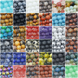 Natural Gemstone Beads Round 4mm 6mm 8mm 10mm 12mm 15.5quot; Strand $4.98
