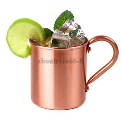 Pure Copper Moscow Mule Cold Drink Beer Wine Mug Summer Tea Cup Coffee Brass Mug