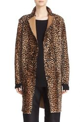 SOFIE D'HOORE REVERSIBLE LEOPARD PRINT SHEARLING COATFR 36=US 4NEW $ 3770
