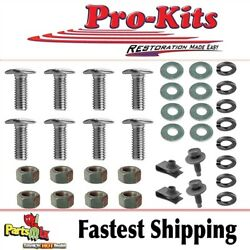 Fits 68 69 Dodge Charger RT SE Front Bumper to Brackets Mounting Bolt Kit