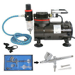 AIRBRUSH SET amp; AIR COMPRESSOR 0.3 Master DUAL ACTION KIT Paint Hobby Cake Tattoo $48.99