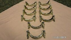 386D Vtg 10 Ornate Italy Swag Brass Finish 4 34