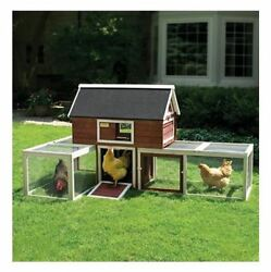 Chicken Coops And Runs Kits Backyard Urban Red Barn Hutch Poultry Rabbit Nesting