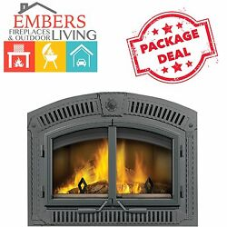 Napoleon NZ3000 H Wood Burning Fireplace EPA Stage 2 Eco Wrought Iron Package