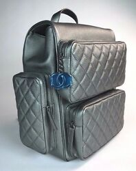 CHANEL BACKPACK . CHARCOAL CAVIAR WITH RUTHENIUM HARDWARE. BRAND NEW!!
