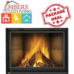 Napoleon NZ8000 Large Wood Burning fireplace herringbone clean face huge square