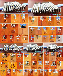 54pcs Stainless Steel Leather Craft Stamping Stamp Punch Carving Tool Set  NEW