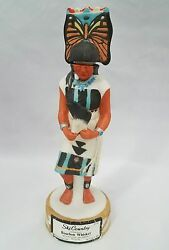 Ski Country Mini Whiskey Decanter Porcelain Bottle Indian Woman Butterfly Dancer $39.99