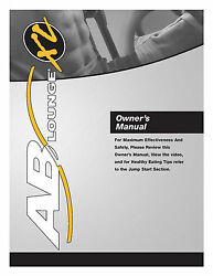 Ab Lounge XL Owners User Manual Reprint Of Fitness Quest Abdominal Chair Seat
