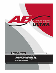 Ab Lounge Ultra Owners User Manual Reprint Of Fitness Quest Abdominal Chair Seat