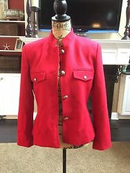 Women's Wool Jacket CW Size 8 Excellent Used Condition Detailed Buttons Nice!!!