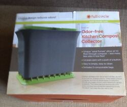 Full Circle Fresh Air odor free kitchen compost collector Green Slate $24.99