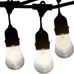 Outdoor Lighting 48 Foot Cafe Lights By Vector. Café Style String Are...
