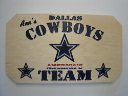 Dallas Cowboys personalized carved signman caveshe shedshopdenwall artetc