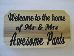 custom carved personalized wood signhouseman caveshe shedshopdengarageetc