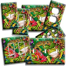 CUTE EXOTIC RAINFOREST TROPICAL TREE FROGS LIGHT SWITCH OUTLET WALL PLATE COVER $10.99