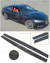 For 15-20 BMW F82 M4 Performance Style CARBON FIBER Side Skirts Panel Extension $289.99