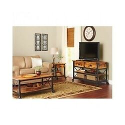 RUSTIC FURNITURE Table Set COUNTRY HOME DECOR Sofa End Stand Coffee Console Loft