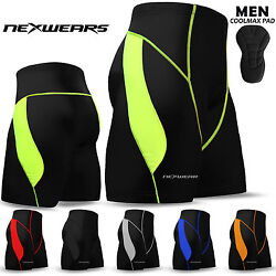 Mens Cycling Shorts Coolmax Compression Padded MTB Bicycle Bike Short S to 2XL $17.99