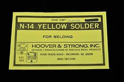 N-14 YELLOW GOLD SOLDER 1 DWT (1.55 GRAMS) HOOVER & STRONG