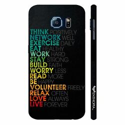 Mantras for life Mobile Cell Phone Hard Back Case For Samsung Galaxy S7 Plus