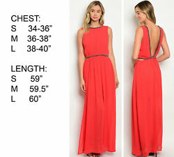 WOMENS LUX BOHO COCKTAIL RED MAXI PARTY EVENING COCKTAIL LONG GOWN DRESS $17.00