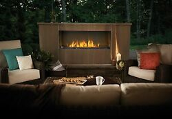 Napoleon GSS48 - Galaxy Outdoor Linear Gas Fireplace w Fire-Glass
