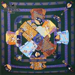 Hermes Carre Scarf Stole Shawl Cashmere Silk KIMONOS ET INROS Auth Limited Rare
