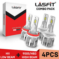 LASFIT LED Headlight Bulb for Toyota Camry High Beam 9005+Low Beam H11 2007-2018