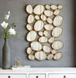 Large Wall Mirror Unique Rounds Vanity Fireplace Luxury Hotel Room Decor