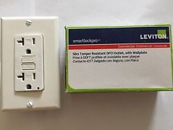 Leviton Commercial Slim Tamper Resistant GFCI Outlet with wallplate 20A 125V Re