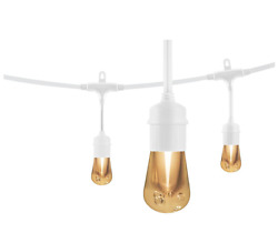 48 ft. Vintage Edison Style LED Bulb Cafe String Light Indoor Outdoor Patio Deck