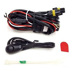 9005 12V 30A Fog Light Wiring Harness Relay Kit LED ONOFF Switch 2 Plugs Wire $13.98