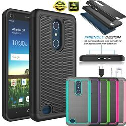 For ZTE Blade X Max  ZTE Z983 Shockproof Armor Rugged Rubber Study Case Cover