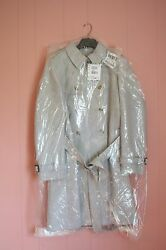 JCrew Icon Trench Coat in Italian Wool Cashmere 16 XL Large Heather Silver Gray