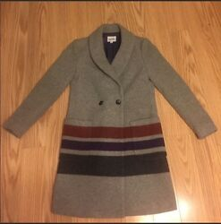 Steven Alan Striped Wool Coat - Size 0 - Good Used Condition