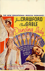 Poster Dancing Lady 1933 Window Card 14