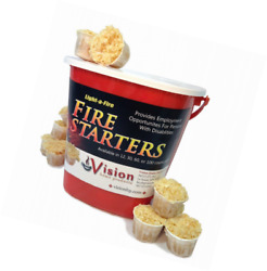 Fire Starter Kit Fireplace Firewood Starters Outdoor Campfire Pods w Container