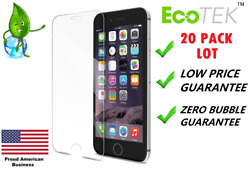 20x Lot Tempered Glass Screen Protector for Apple iPhone Xs MAX 5 8 6s 7 Plus XR