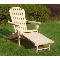 Adirondack Chair Kit w Pullout Ottoman Northbeam Cedar Ergonomic Comfort Relax