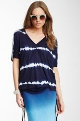 Young Fabulous and Broke over-sized knit top XS  S NWT $132 NAVY  WHITE $43.00