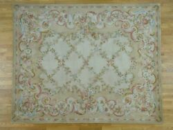 12'x15' Floral Trellis Design Thick And Plush Oversize Savonnerie Rug G36897