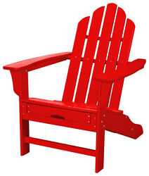 Hanover - All-Weather Adirondack Chair with Ottoman - Sunset Red