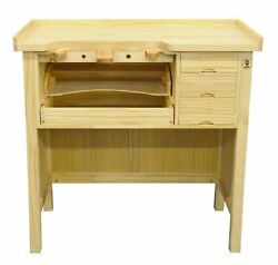 Jewelry Bench Solid Wood Workbench with Drawers Jewelers Bench Arts and Crafts $399.95