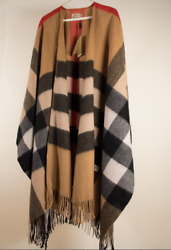 *RARE SOLD OUT* BURBERRY  Women's Brown Check 100% Cashmere Poncho NWT $2500